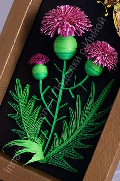 Thistles and hawkmoth, paper quilling by Inna's Creations, via Flickr