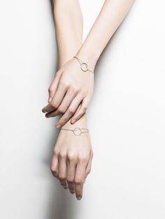 STERLING SILVER CIRCLE DOUBLE CHIAN BRACELET #925-silver #nuditefashion #minimal