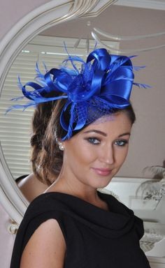 Julie 1 Blue Fascinator