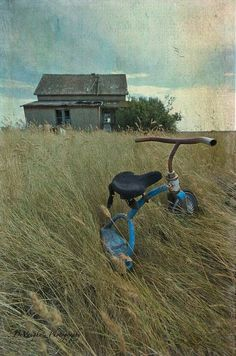 Andrew Wyeth - Barn and Trike (1917-2009) American realistic painter