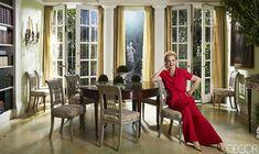 Carolina Herrera in her favorite room: the study