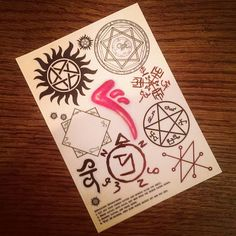 Check out this item in my Etsy shop https://www.etsy.com/uk/listing/114679295/supernatural-temporary-tattoos