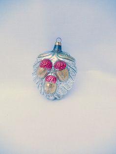 vintage glass ornament rare Christmas by vintagebyclaudine on Etsy, $21.95