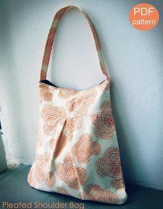 Pleated Shoulder Bag PDF Sewing Pattern and Tutorial par alifoster, $6.00