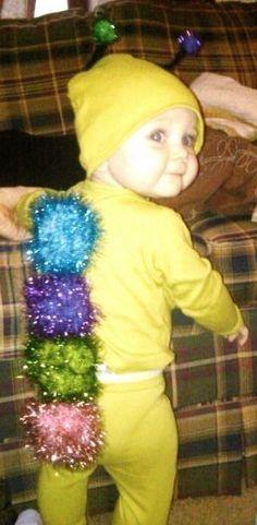 Glow worm/caterpillar toddler baby costume