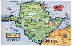 - Highest Quality Postcard Holy Island LMS poster HolyHead record of great britain Pack of 8
