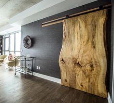 We are loving this live edge sliding door by - May 25 2019 at Custom Entry Doors, Home, Sliding Bedroom Doors, Sliding Doors Interior, House, Interior, Wood Doors Interior, Wood Doors, Door Design