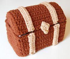 crochet pattern - toy chest. $5.00, via Etsy.