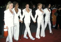 The Spice Girls at the Hollywood premiere of Spiceworld in 1997
