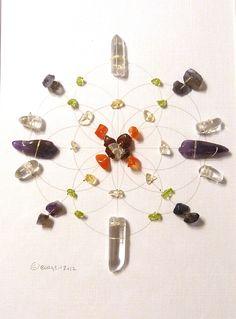 Feng Shui Crystal Healing Grid   Sacred Geometry Chakra Grid
