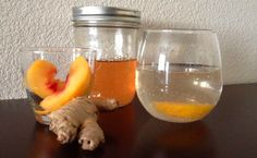 Ginger Peach Shrub Recipe - Break out the bubbly and mix with this spicy liquid #FoodRepublic