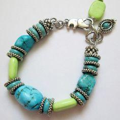 Loving Turguoisel Bracelet Silver Handmade by nina68 on Etsy