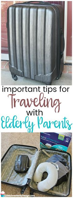 Traveling with the elderly can pose special challenges. These tips for vacationing with older people will help make your trip a success! Don't be afraid to vacation with your elderly parents! #ad #ConquerInco #elderlycarehacks