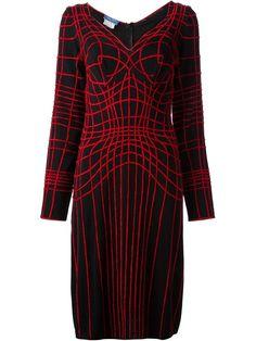 Thierry Mugler Vintage Web Embroidered Dress - House Of Liza - Farfetch.com