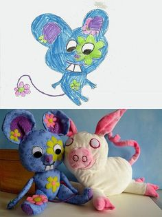 Child's Own Studio has taken matters into its own hands — literally — designing stuffed animals from crudely-drawn illustrations sent in by children.