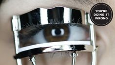 Find out the correct way to curl your eyelash at SHEfinds.com.