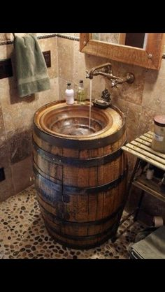 Bathroom or Kitchen or any wash basin area  I so want this fabulous idea in my home