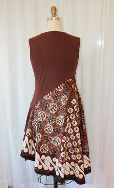 Top Eco amical robe d'été upcycled vêtements robe sans par MilaLem