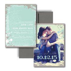 Pretty tiffany blue wedding invitation!