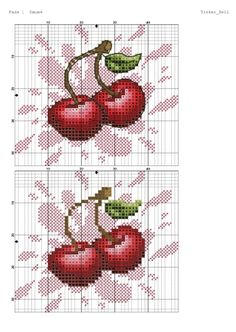 Cross Stitch Fruit, Xmas Cross Stitch, Cross Stitch Kitchen, Cross Stitch Cards, Cross Stitch Flowers, Cross Stitching, Cross Stitch Embroidery, Cross Stitch Designs, Cross Stitch Patterns