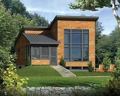 One Bedroom Modern House Plan 80815PM  All you need to figure out is where to point the 2-story windows looking out of the great room.  Ready when you are. Where do YOU want to build?