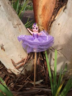 Imogen - Kewpie Doll with Lilac Glitter Bodice, Lilac Tulle Tutu skirt with Lilac Lace trim. An Original Kewpie Creation from 1951.