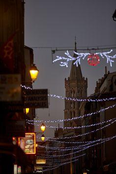 Les illuminations de Noël à Toulouse, France / Christmas lights in Toulouse, France © Ville de Toulouse - P. Nin #visiteztoulouse
