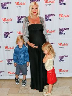 Tori Spelling with Liam & Stella