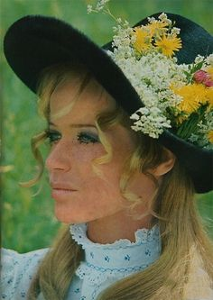 hats and prairie dresses via theswinginsixties on tumblr