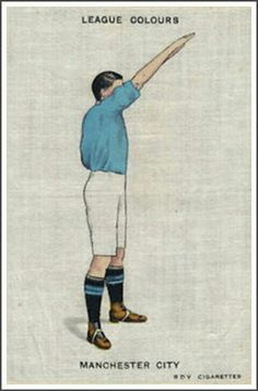 Man City colours cigarette card in the 1920s.