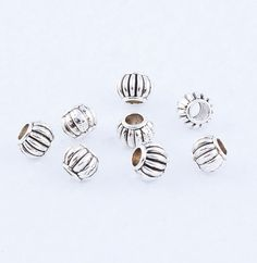 Free-Ship-Tibetan-silver-Small-Charm-Spacer-Beads-Fit-Bracelet-Necklace-CraftDIY