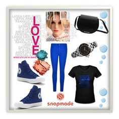 """""""SNAPMADE #6"""" by nizaba-haskic ❤ liked on Polyvore featuring J Brand, Converse, Topshop and CC SKYE"""