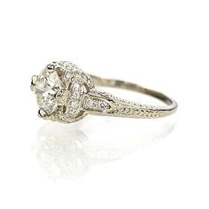 Leigh Jay Nacht Inc. - Replica Art Deco Engagement Ring - 3097-24
