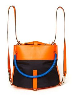 Perfect travel companion from Lucky Mag packing guide...A Kenzo color-block backpack from our Summer Packing Guide for Miami Beach http://lcky.mg/KitgcL