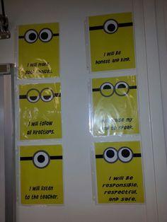 minion classroom theme | Minion classroom rules.