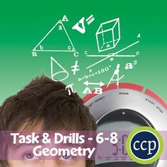 For grades 6-8, our combined resource meets the geometry concepts addressed by the NCTM standards and encourages the students to review the concepts in unique ways. About this Resource:The task sheets introduce the mathematical concepts to the students around a central problem taken from real-life experiences, while the drill sheets provide warm-up and timed practice questions for the students to strengthen their procedural proficiency skills.