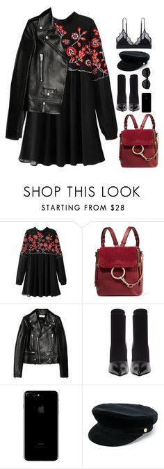 """""""Untitled #2946"""" by wtf-towear ❤ liked on Polyvore featuring Chloé, Yves Saint Laurent, Balenciaga, Carla Zampatti, Manokhi and LoveStories"""