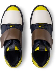 MARNI Black Color Blocking Low-top Lace-up Sneakers