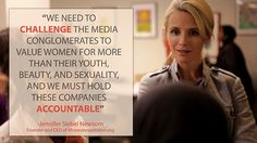 Quote from Jennifer Siebel Newsom, director of 'Miss Representation' (documentary)