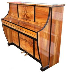 Upright Piano by Waldberg (German) Art Deco Stil, Art Deco Home, Vintage Decor, Vintage Furniture, Vintage Hats, Art Nouveau Furniture, Furniture Design, Design Industrial, Art Deco Buildings