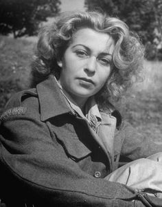 ADELE - Yugoslavian partisan and art student Edith Semjen, one of the 1,000 Jewish refugees who escaped Nazi-occupied Europe, photographed at Fort O...