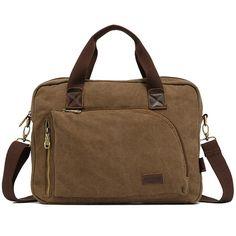 Sale 26% (30$) - KAUKKO Men Messenger Bags Canvas Male Handbag Casual Outdoor Bag
