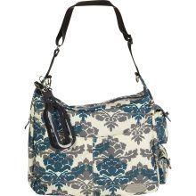 JJ Cole Boutique Zoey Diaper Bag - Teal Fleur