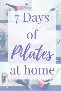 Join me for 7 Days of Pilates at home! I'm bringing you a mat Pilates workout EVERYDAY for 7 Days. Now you can tone up and increase your flexibility right from your living room. Pilates, Strength, Toned Muscles, Increased Flexibility, Home Workouts, and the best you yet! #Pilates, #homeworkouts, #getinshape, #matpilates, #sculptmuscles, #strongwomen #strongcore, #abs, #coreworkout #womenhealth Pilates Workout, Post Workout, Workout Videos, Pilates At Home, Pilates Body, 7 Day Challenge, Pelvic Floor, Yoga Tips, Tone It Up