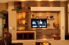 cosy drywall entertainment centers. Scroll down to take a look in 14 breathtaking gypsum board TV wall unit  Contemporary Southwest style custom media home entertainment