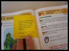 Fun idea to link cub scouting to Faith in God. These actually glue right into the book next to a requirement that is very similar.