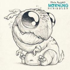 Beaky pup.  #morningscribbles