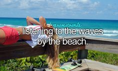 Listening to the waves by the beach