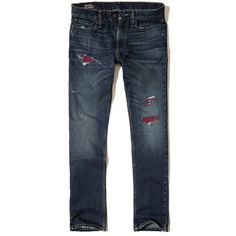 0330305d188c0 Hollister Slim Straight Jeans ( 25) ❤ liked on Polyvore featuring men s  fashion