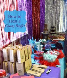 How to host a candy buffet. The best candy to buy. #Sweet16